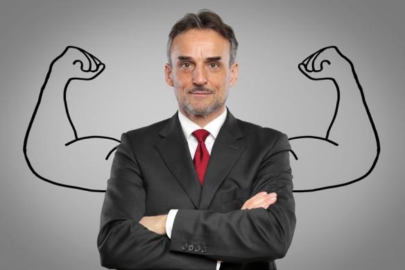 Mann mit Muskeln / Kraft / Strke / Erfolg